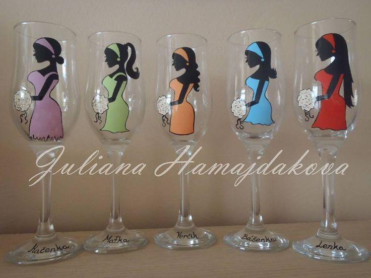 Belinda . Exclusive hand-painted wedding cups by Juliana Hamajdak. www.malovaneumenie.sk