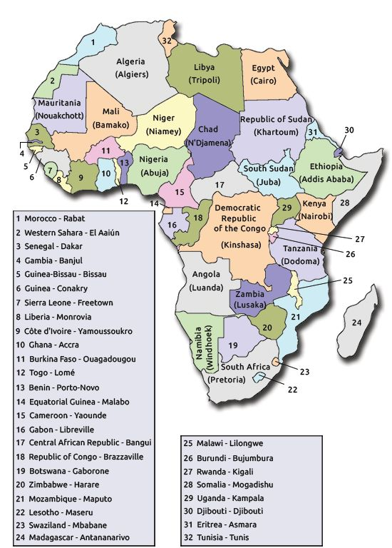 25+ best List Of African Countries ideas on Pinterest | African ...