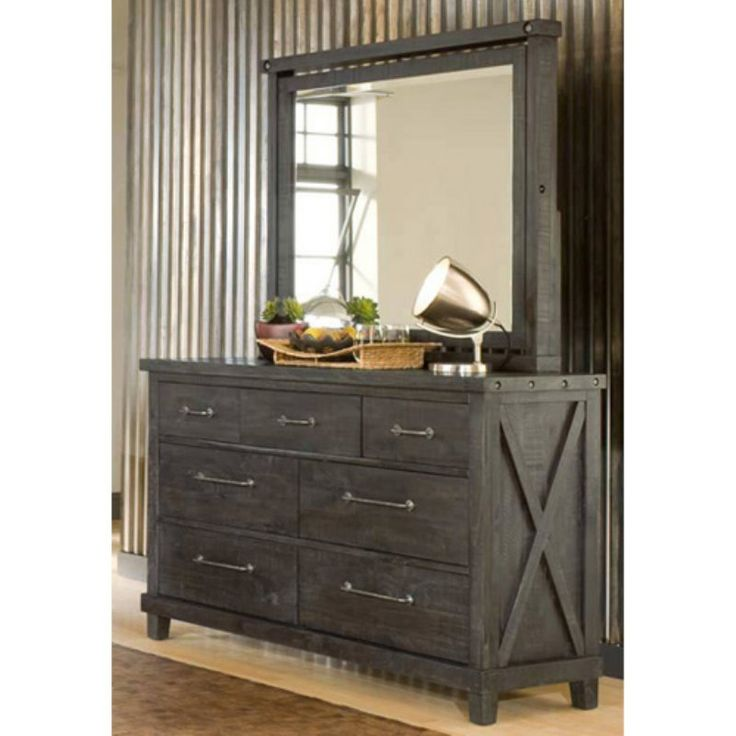 Modus Yosemite Solid Wood Dresser with Optional Mirror - Cafe - MOD915