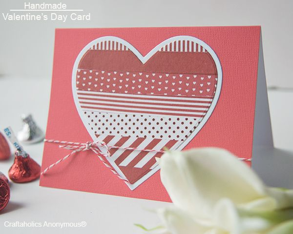 Love the washi tape heart! + more valentine craft ideas