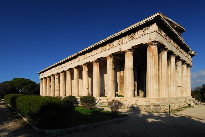 Hefes temple on Antic Agora