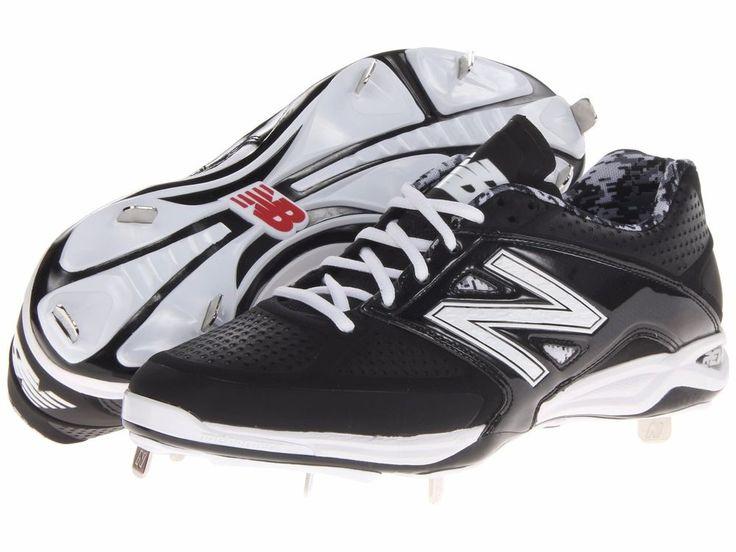 New Balance Mens 4040v2 Low Black White Baseball Cleats Shoes 16 Medium(D)  $125