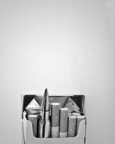 Lucky. #cigarettes #bullet #blackandwhite