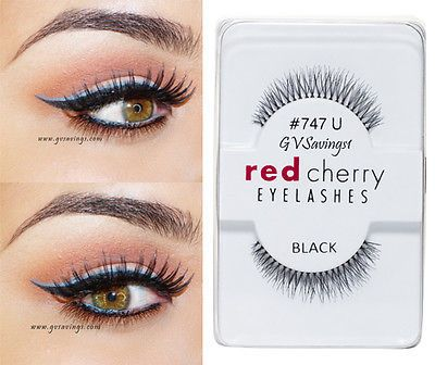 NIB~ Red Cherry #747U BOTTOM UNDER Lashes False Eyelashes Fake Black Strip
