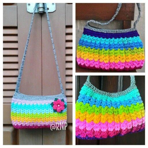 Crochet bag - rainbow