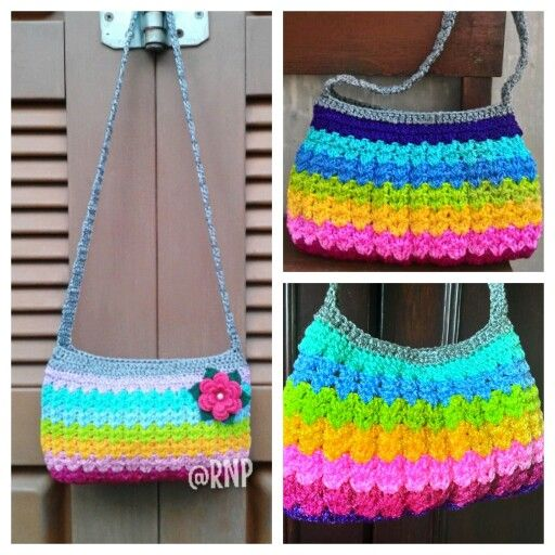 Crochet bag - rainbow