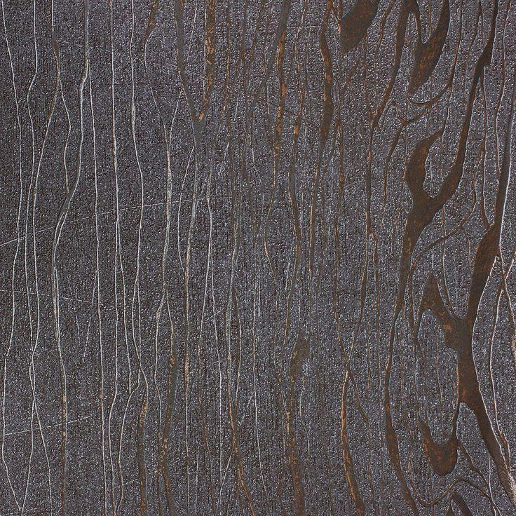 Non-woven wallper Luigi Colani Visions Marburg 53329 structure silver brown