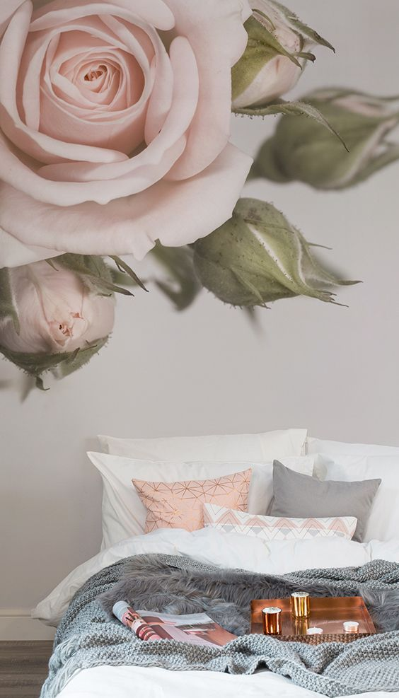 Pink, the offspring of white and red, has turned into a significant color alternative in home design. Elegant Pink Rose Wallpaper Mural | Pink Rose Petals