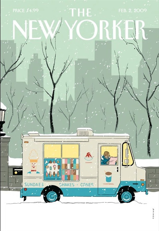 cMag115 - The New Yorker Magazine cover by Adrian Tomine / February 2009