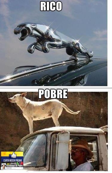 Imagem engraçada da diferença entre Rico e Pobre