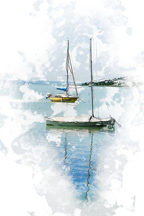 Lake, Sailing, Water, Summer, Wind, Port