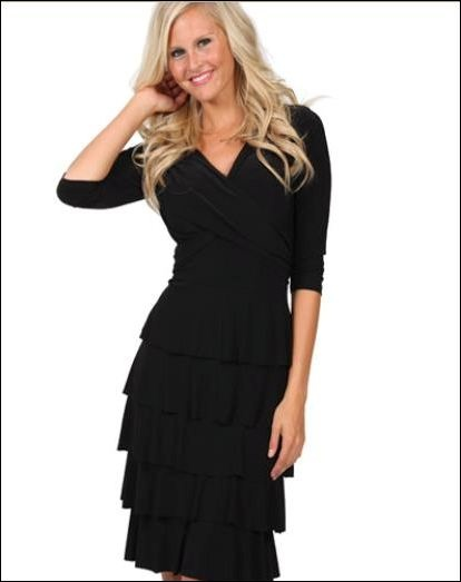 Multi layer, excellent slimming fit from the Frank Lyman Design 2013 Collection. Also available in NEW Forest Green