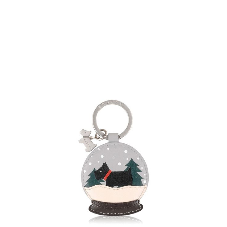 Radley inside a snowglobe? It doesn't get more Christmassy than this cute key ring.