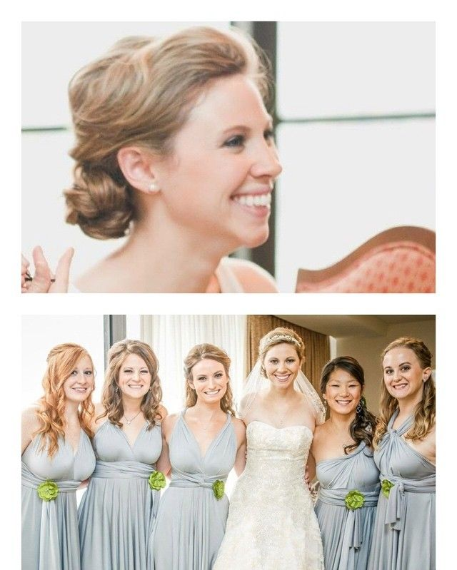 Beautiful Bride Katelyn and her Fabulous Bridal Party. Hair by Tess!  Make Up by me!