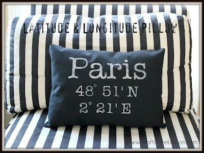 Latitude and Longitude PillowBathroom Interior, Longitude Pillows, Gift Ideas, Kitchens Ideas, Living Room, Latitude Longitude, Design Home, Diy Pillows, Crafts Rebellion