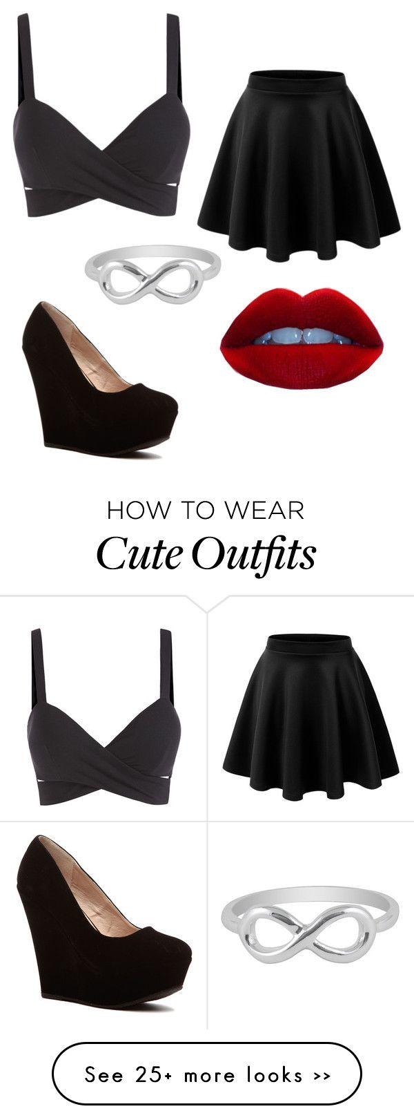 """""""Cute Black Outfit"""" by kitty-kat12 on Polyvore featuring Jewel Exclusive"""