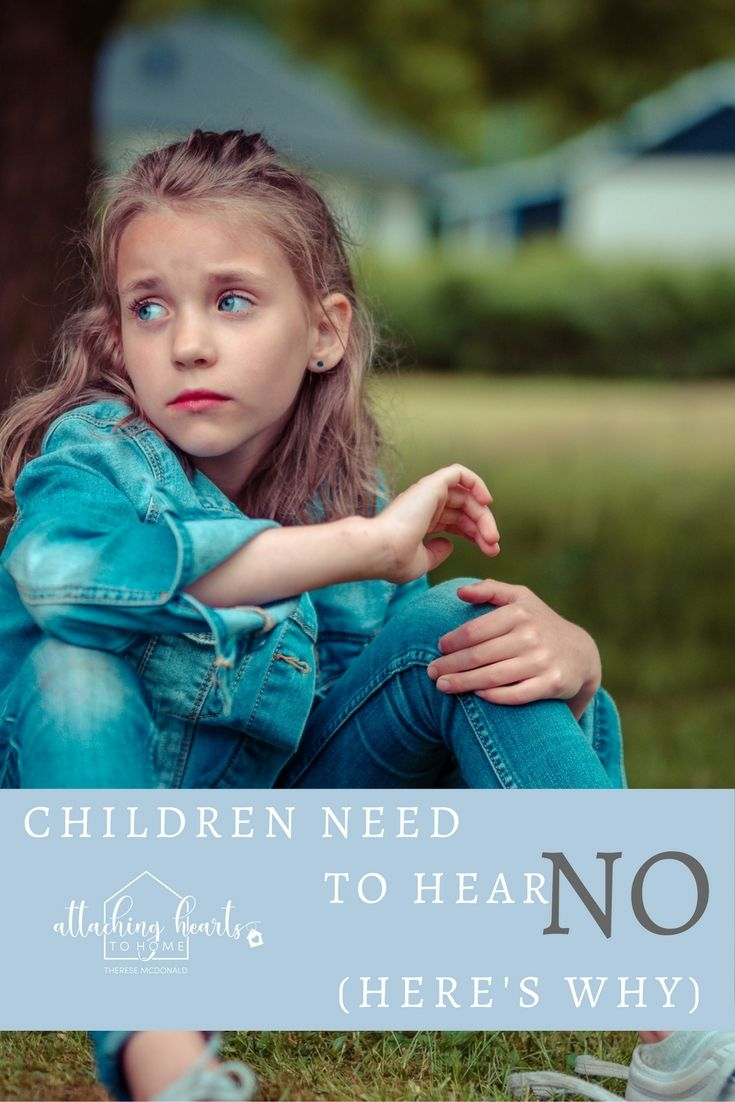 "Raising and disciplining your children is a hard job. Here's one word that will make your parenting go a lot easier. Teach your child the importance of the word ""No."""