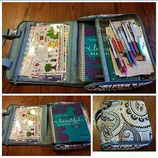 The Hanging Traveler Case is great for storing your planner, pens and stickers!