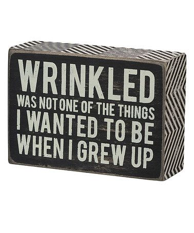 Loving this 'Grew Up' Box Sign on #zulily! #zulilyfinds