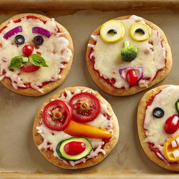 4 recetas de pizza ¡divertidas y originales! Recetas de pizza divertidas para niños y adultos. Pizzas originales para fiestas o momentos especiales.
