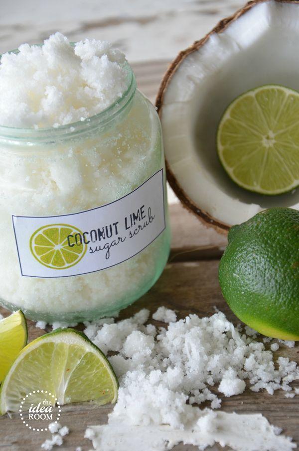 Make your own Coconut Lime Sugar Scrub | theidearoom.net