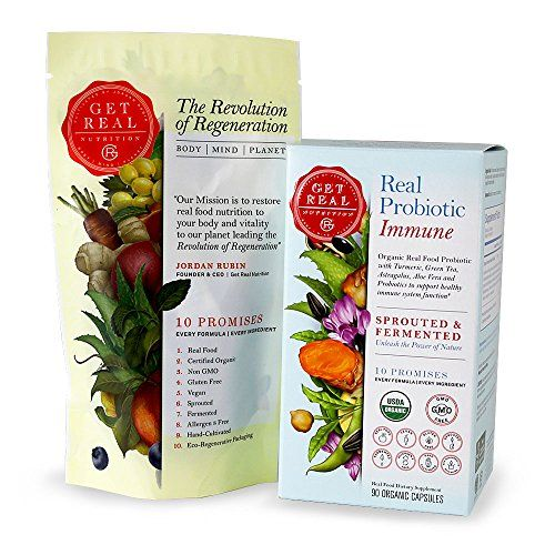 Real Probiotic Immune 90 Organic Capsules  Get Real Nutrition by Jordan Rubin  Turmeric  Green Tea  Astragalus  Aloe Vera *** See this great product by click affiliate link Amazon.com