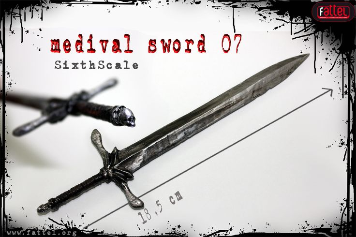 onesixthscale action figure medieval sword