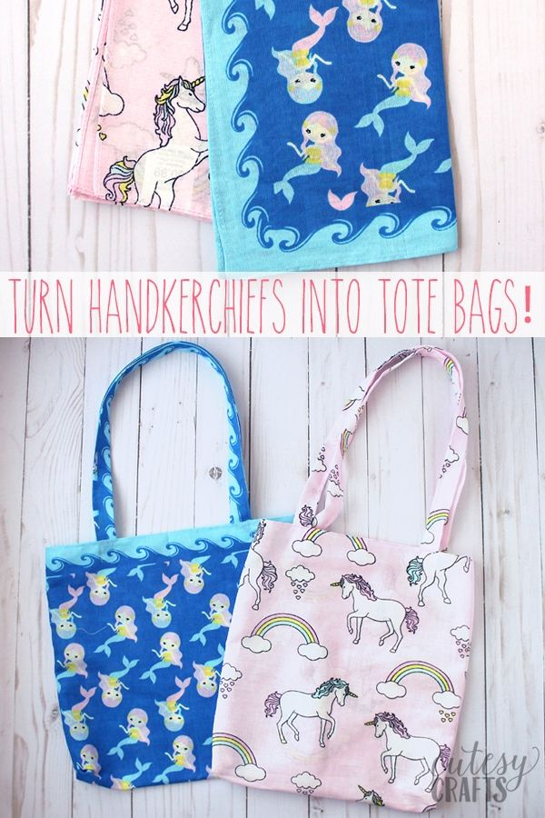 Beginner Sewing Project - Tote Bag from a Bandana | *Threads n ...