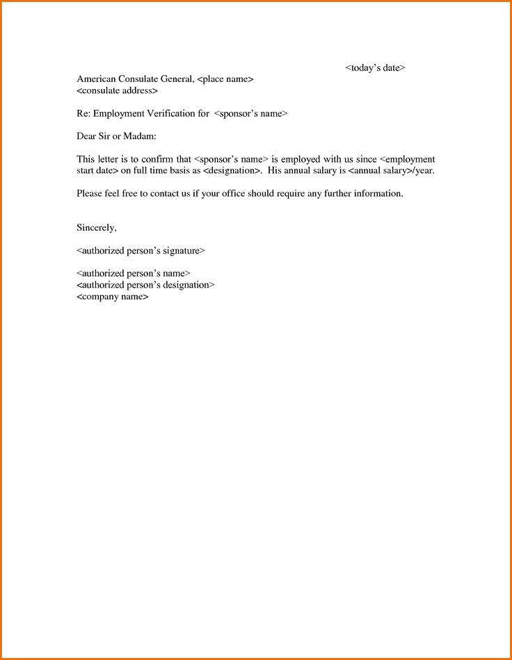 Employment Verification Letter Draft Word Online Template Inside