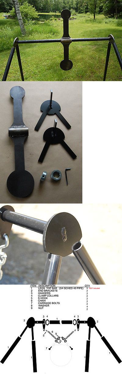 Targets 73978: Spinner Gong Target Kit - 4.5 And 3 Paddles Ar500 Gong - Metal Target Stand BUY IT NOW ONLY: $94.98