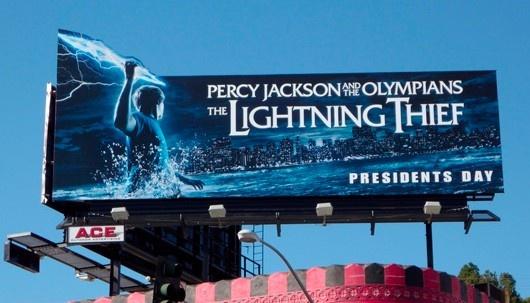 Valla publicitaria - Percy Jackson y el ladrón del rayo