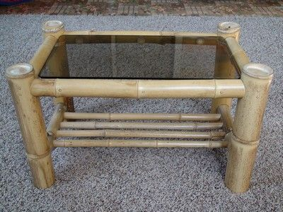 Bamboo end table