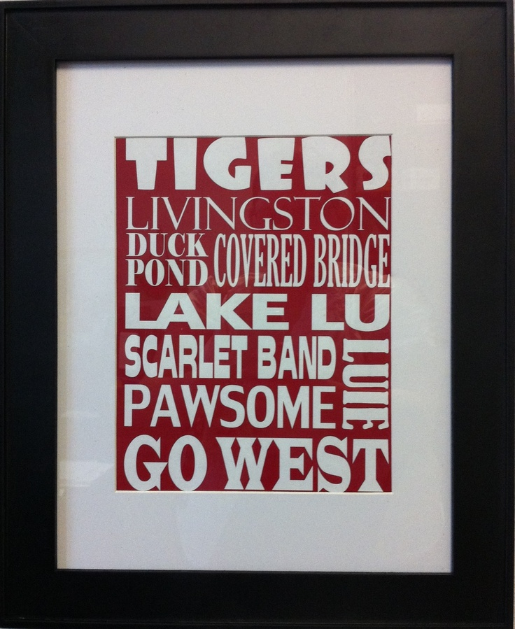 University of West Alabama Subway Art for my office