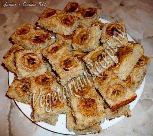Вкусные банановые пирожные, несложные в приготовлении. Пошаговый фото-рецепт пирожных без яиц .