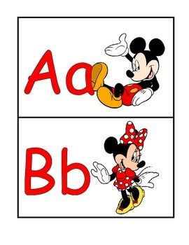 Mickey and Minnie Mouse Word Wall Headers