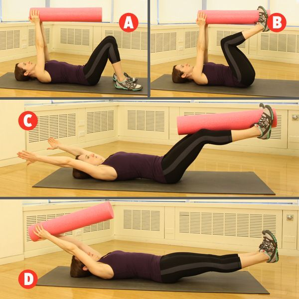 Our favorite stretching tool is good for strength exercises, too. The foam roller rules!