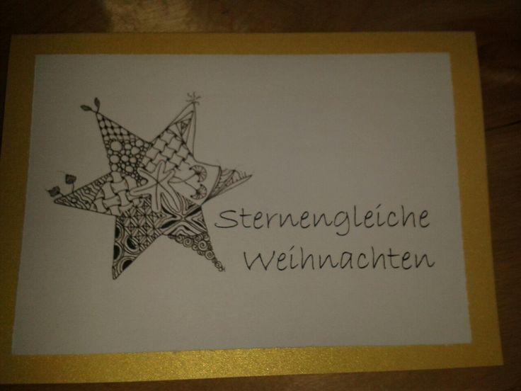 Weihnachtskarte Zentangle-Stern