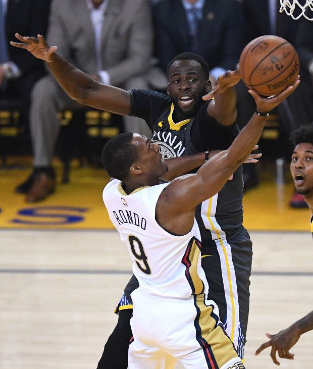 cf087f77f8a1 Golden State Warriors  Draymond Green (23) tries to block a shot by ...