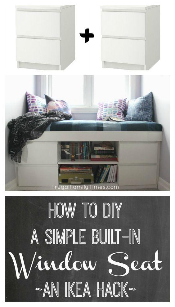 Wie man einen einfachen eingebauten Fensterplatz bastelt (ein IKEA Hack!)