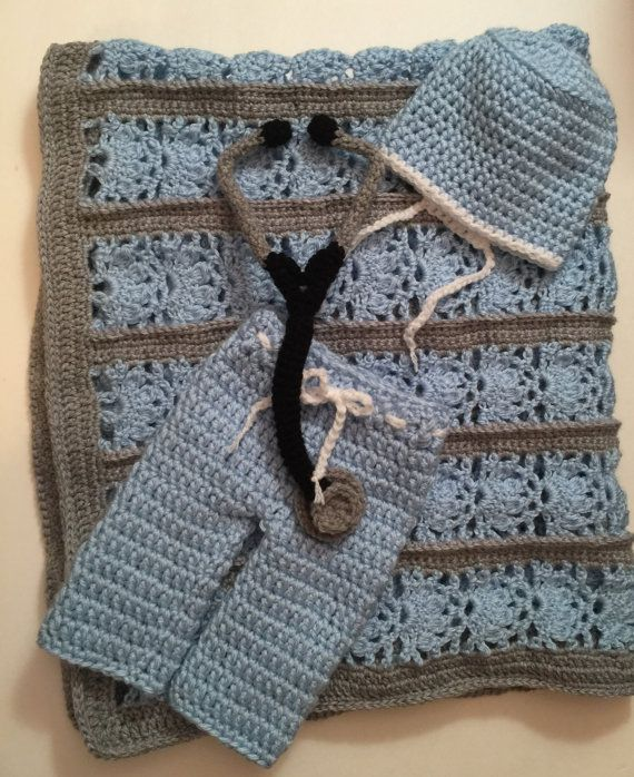 Hand Crocheted Newborn 0-3 months Nurse/ by KittysKreationsB