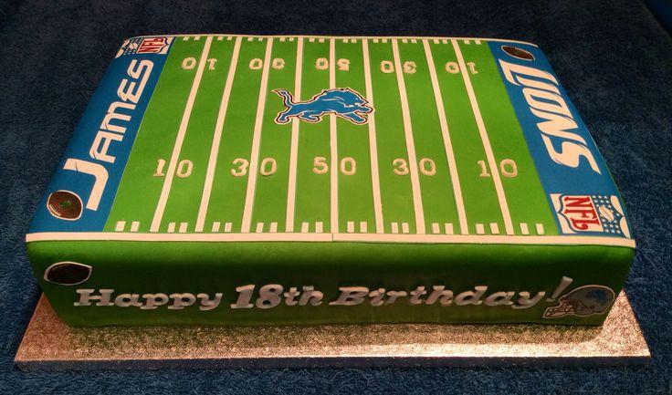 NFL Detroit Lions American Football birthday cake