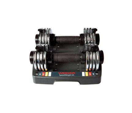 Best At-Home Gym Equipment: Fitness: Self.com-adjustable weight dumbbells, which makes them a really smart choice