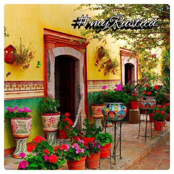 Rustic home furnishings and Mexican garden decorations by ... on Mexican Patio Ideas id=26858