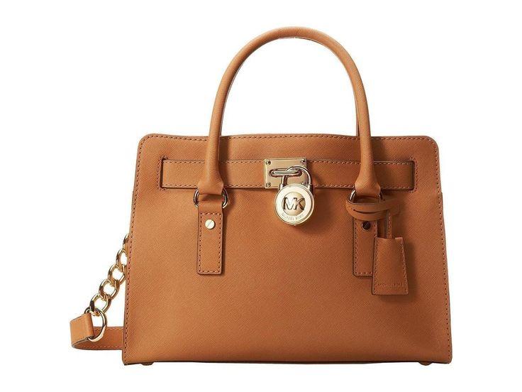 MICHAEL Michael Kors Hamilton 18K East/West Satchel - great everyday handbag  in tan