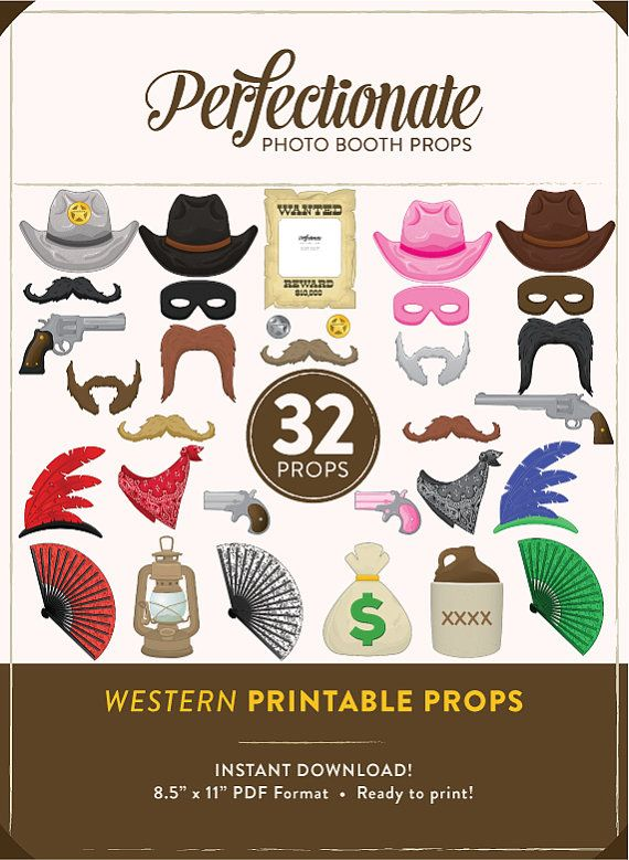 Printable Western Photo Booth Props  32 Printable by Perfectionate