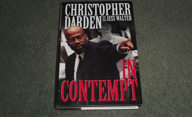 In Contempt by Jess Walter & Christopher Darden (1996, HC/DJ, 1st, 1-10), GUC! #OJSimpsonTrialBook