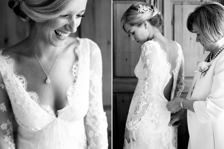 bride getting ready in the morning | The bride is wearing the Temperley London Jessamine Dress
