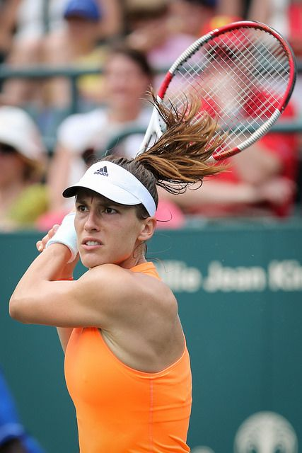 Petkovic looking fierce on this backhand!