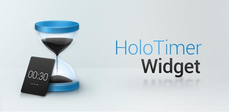 Banner Holo Timer Widget / An Android Timer Widget / Clément Oriol  https://play.google.com/store/apps/details?id=com.neuronalmotion.timerwidget