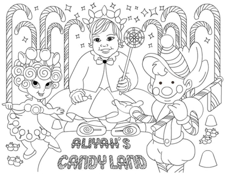 Free Kids Printable Of Candyland Coloring Pages Online